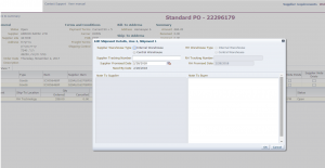 Standard PO – Edit Shipment Line (Note) - Suppliers Portal - Manage all in ONE place - Unitask